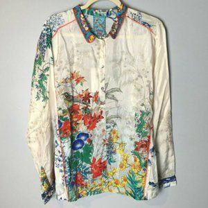 Johnny Was NEW Top Size XL Amelia Floral Blouse